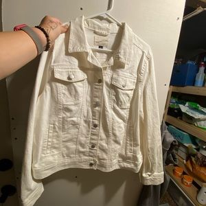 Jean jacket off white not exactly ivory either